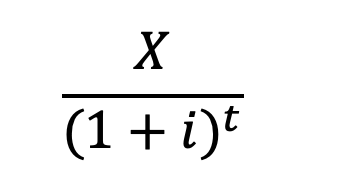 Formula for present value