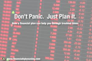 Don't Panic. Just Plan it.