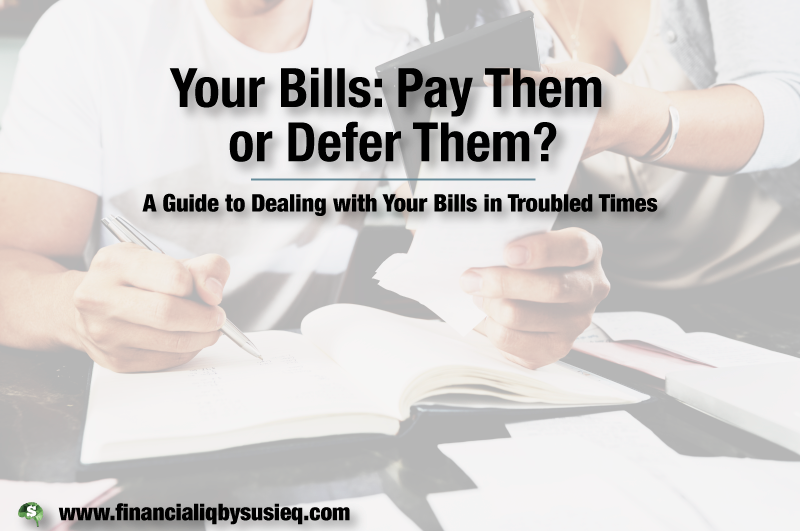 Your Bills: Pay Them or Defer Them?