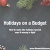 Holidays on a Budget